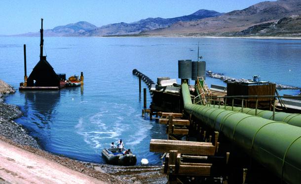 Commercial Diving Pump Station Intake Installation, Utah